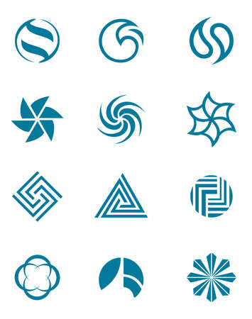 edit icon: Abstract design template, round the pattern shape Illustration