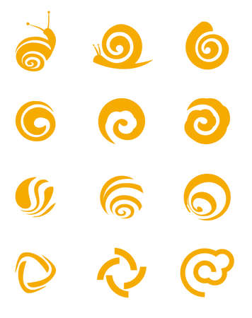 whirlpools: Abstract design template, snail pattern
