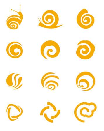 caracol: Plantilla de diseño abstracto, patrón de caracol Vectores