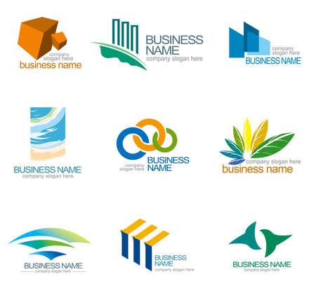 loghi aziendali: Modelli di disegno astratto, progettazione corporate identity