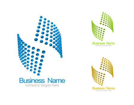 logotipos de empresas: Plantillas corporativas logotipo, material de identificaci�n del sistema Foto de archivo