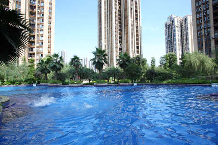 environmental science: Swimming pool of living area