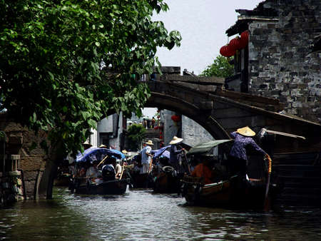 zhouzhuang: Chinese Jiangsu Zhouzhuang old town  Stock Photo