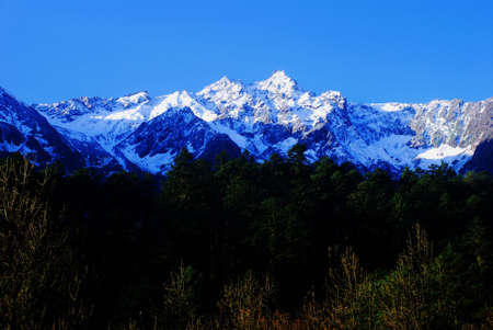 Snow mountain scenery photo