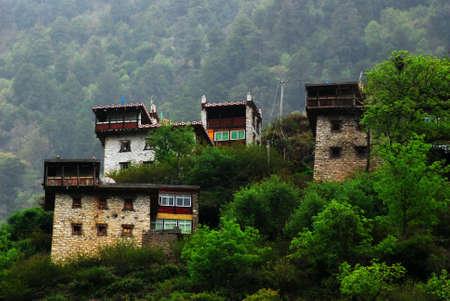 tibetan house: Tibetan house Stock Photo