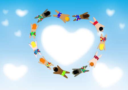 couleur de peau: l'enfant du monde entier, la couleur de la peau de dissimilitude, la dissemblance de la race, le bonheur d'ensemble, bon c?ur avec courtoisie.