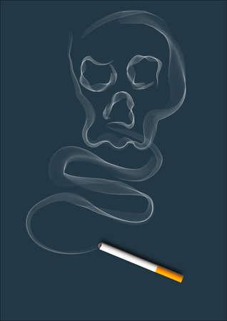 cigarette smoke: fumo di sigaretta in uno sfondo blu scuro, che scorre lentamente. Archivio Fotografico