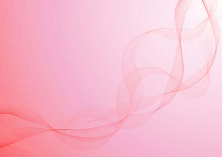 red ribbon, in the gradient, pink background Stock Photo
