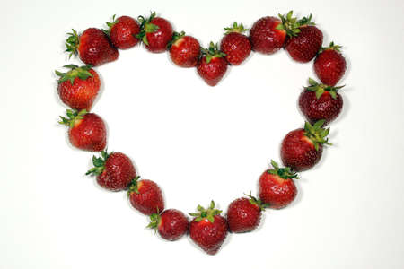 a love-shaped strawberries