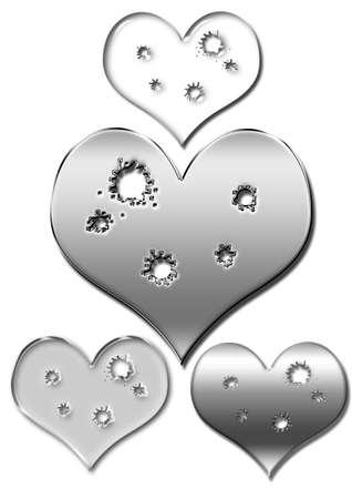 fatal: Broken heart, be fatal injuries, not save. Stock Photo