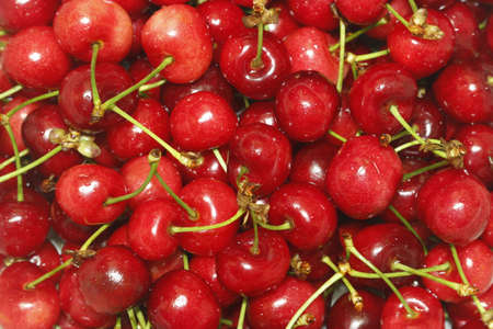 Red cherry, nutritious fruit, delicious, fresh  Stock Photo