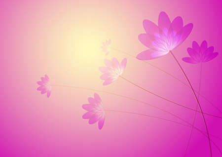 Flower, in a pink background, computer generated