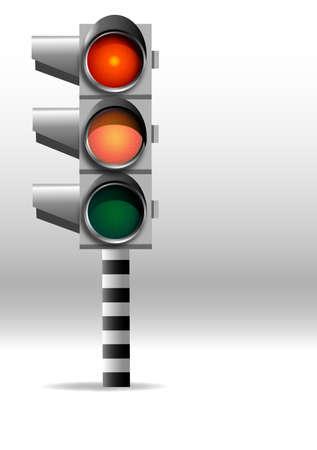 Warning lights, red, dangerous road, still pass