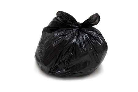 Garbage bag, isolated, roped, on white background Stock Photo - 17201345