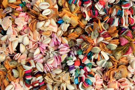 string together: Be riotous with colour shells to string together color shell jewelry
