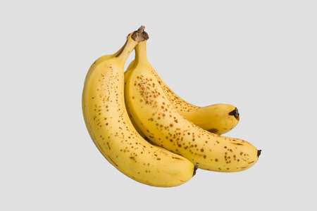 Yellow bananas in the white background Stock Photo