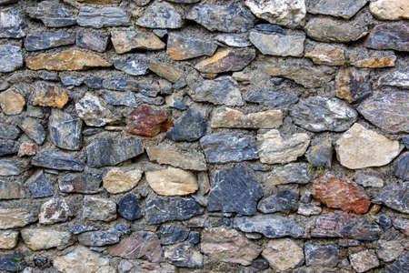 firmeza: Rocas duras de la pared de cemento y arena Foto de archivo