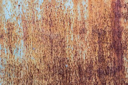 錆の斑点のある錆テクスチャ錫を風化します。