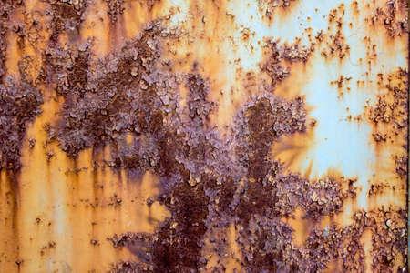 mottled: Weathered rust mottled rust texture tin