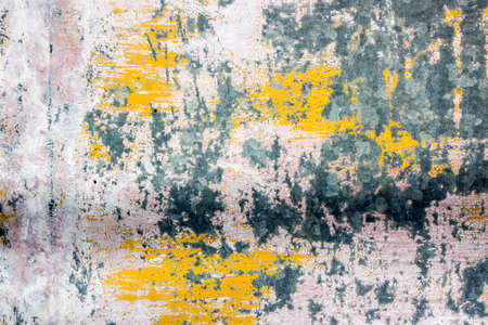 scratches: Mottled colors covered with scratches stains of the wall Stock Photo