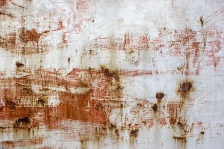 mottled: Local feature of the color paint mottled weathered rust