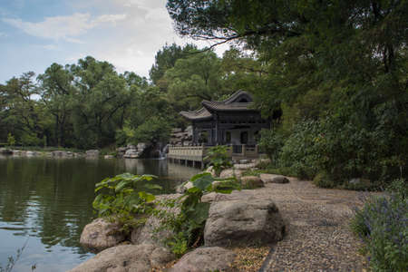 landscape architecture: Beautiful Chinese style outdoor landscape architecture