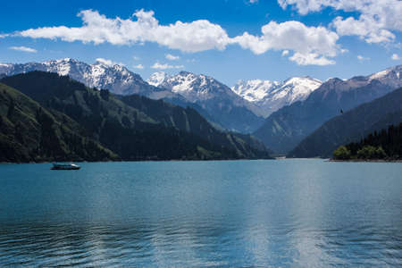 Tianshan Tianchi Stock Photo