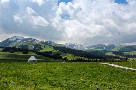 cloud capped: The charming Yili Nalati prairie landscape