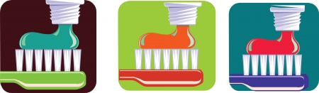 fluoride: Toothbrush and toothpaste set