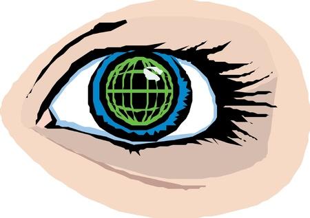 Eye icon Stock Vector - 22027733