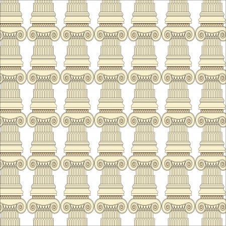 Antique column pillar pattern Vector