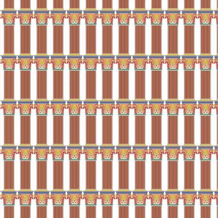 grecian: Antique column pillar pattern Illustration