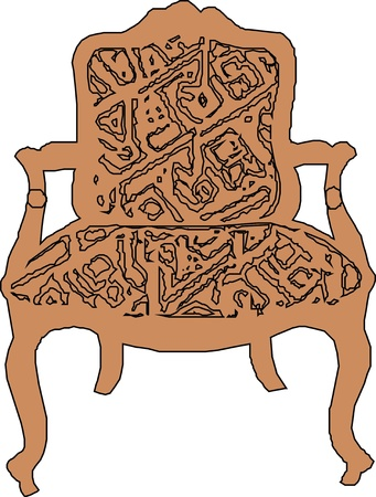 pieces of furniture: Baroque armchair