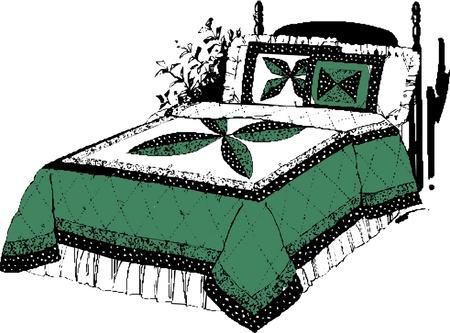 Cartoon Bed  Vector