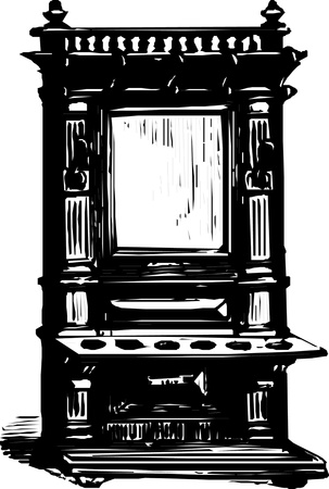 Antique cabinet  Vector