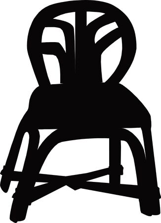 easy chair: chair  silhouette Illustration