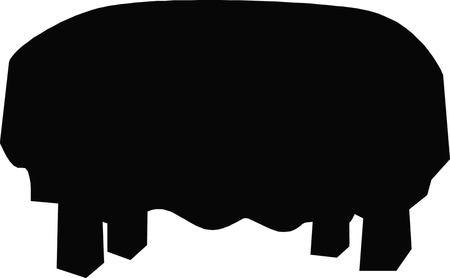 industrial complex: Table Silhouette  Illustration