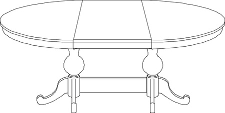 table drawing  Illustration