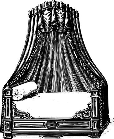 Antique bed  Ilustração