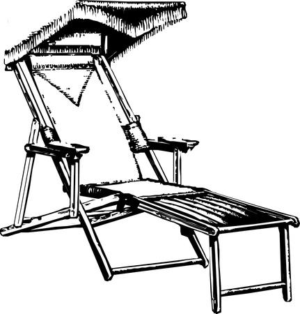 비치 의자 긴 의자