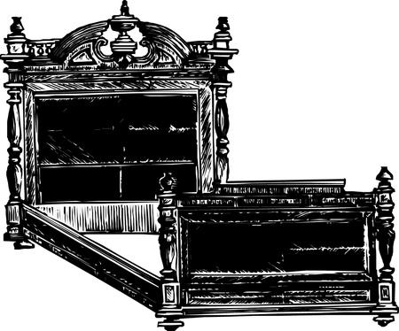 Antique Bed  Vector