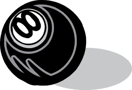 Billiard ball with number eight Vector