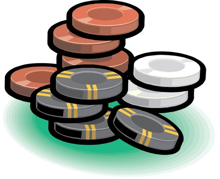 Vector gambling chips Vector