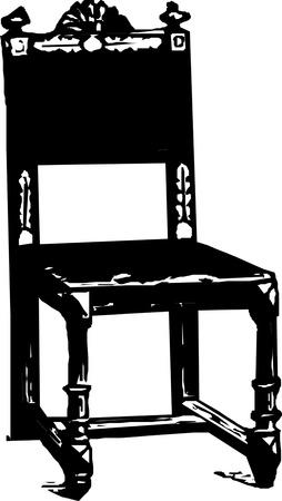 baroque antique chair  Illustration
