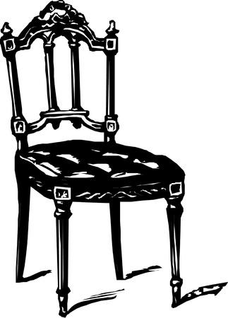 antique furniture: baroque antique armchair