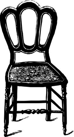 baroque antique chair  Vector