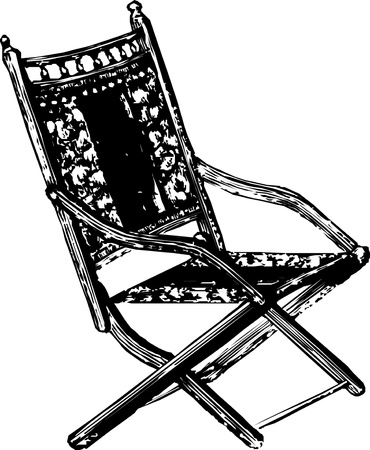 collapsible: Wooden collapsible chaise lounge for rest Vector illustration Illustration