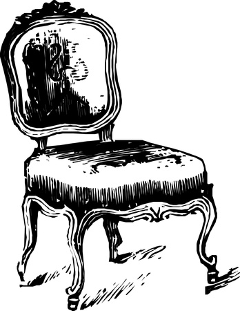 baroque antique armchair  Vector