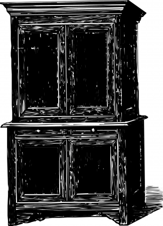 Antique Cabinet cupboard Stock Vector - 22080544