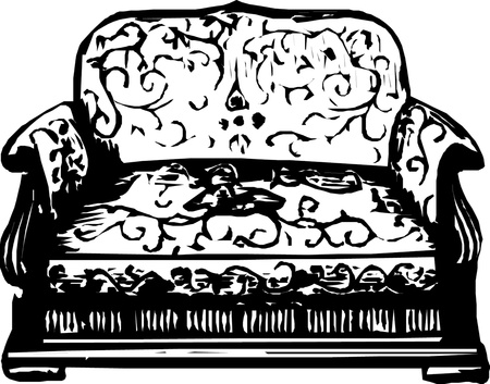Antique sofa  Vector